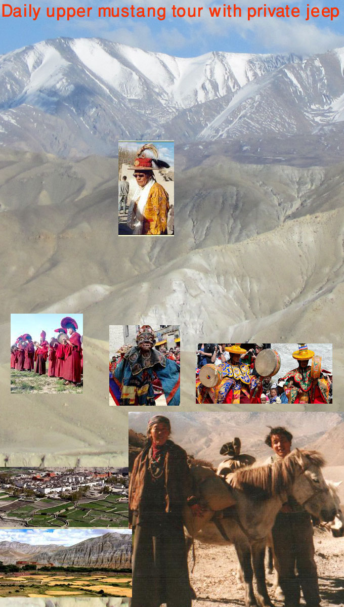 landscape and cultural photos of the upper mustang
