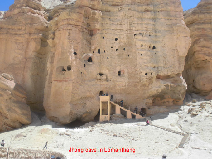 one of the most important jhong cave in upper mustang/lomanthang with 43 rooms