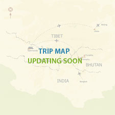 Rapid Buddhism circuit tour in the Kathmandu Valley  Map